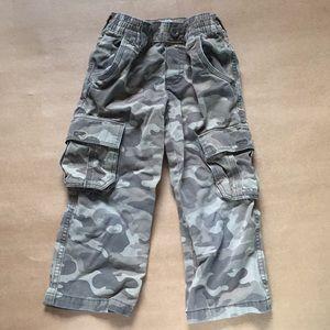 Boys Camo Cargo Pants